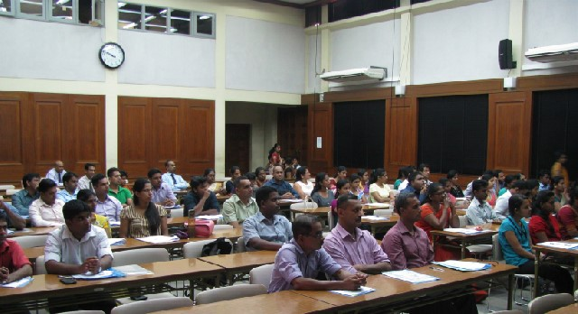 Some of the participants in the one-day workshop at the auditorium, MRI